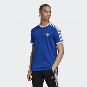 Футболка 3-Stripes Originals adidas. Цвет: синий