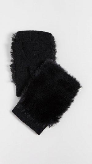 Faux Fur Fingerless Gloves Carolina Amato