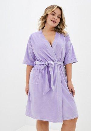 Халат домашний El Fa Mei. Цвет: фиолетовый
