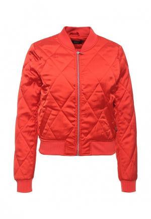 Куртка Only. Цвет: красный