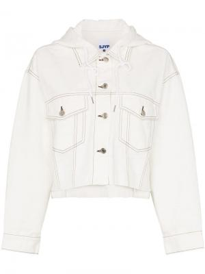Джинсовая куртка с капюшоном SJYP