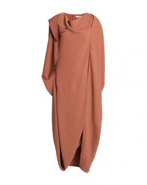Платье длиной 3/4 CHALAYAN. Цвет: коричневый