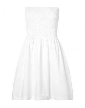 Короткое платье ATM ANTHONY THOMAS MELILLO. Цвет: белый