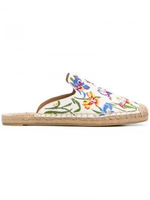 Embroidered espadrille slippers Tory Burch. Цвет: разноцветный