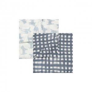 Комплект из двух пеленок Aden+Anais. Цвет: разноцветный