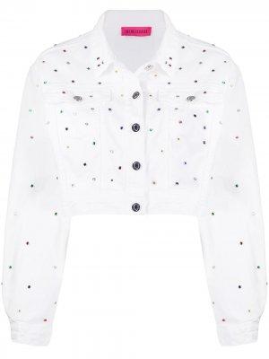 Декорированная джинсовая куртка IRENEISGOOD. Цвет: белый