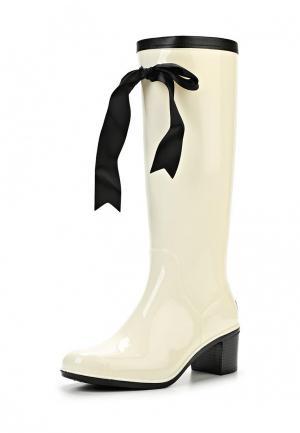 Резиновые сапоги Boomboots. Цвет: белый