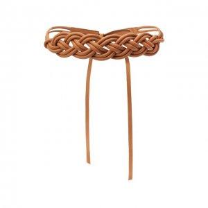 Кожаный ремень Zimmermann. Цвет: коричневый