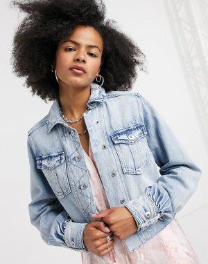 Светлая джинсовая куртка -Голубой AllSaints