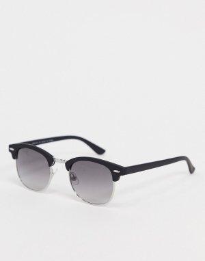 Черные солнцезащитные очки с дымчатыми стеклами -Черный River Island