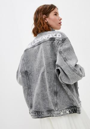 Куртка джинсовая Karl Lagerfeld. Цвет: серый