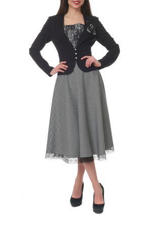 Комплект с юбкой Mannon. Цвет: черный, молочный