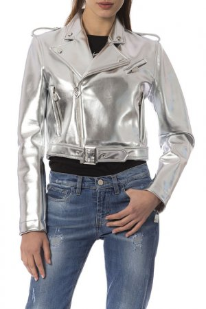 Куртка Frankie Morello. Цвет: серебряный