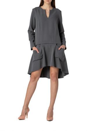 Платье Adzhedo. Цвет: темно-серый