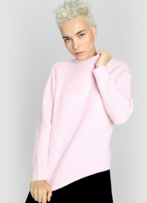 Джемпер фактурной вязки O`Stin. Цвет: светло-розовый