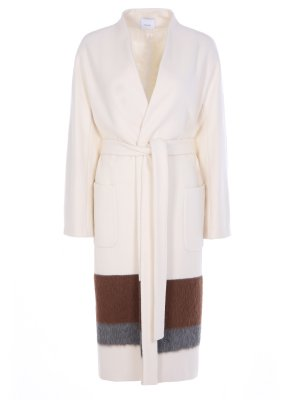 Шерстяное пальто с поясом AGNONA