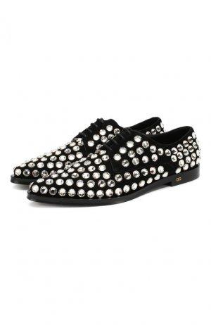 Замшевые дерби Millennials Dolce & Gabbana. Цвет: серебряный