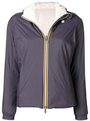 Куртка узкого кроя Lily Warm K-Way. Цвет: серый