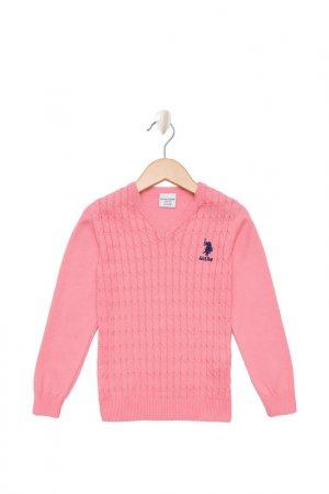 Пуловер U.S. Polo Assn.. Цвет: vr078 розовый