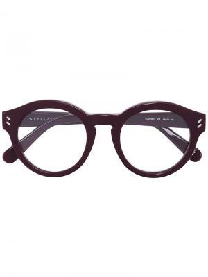 Очки в круглой оправе Stella Mccartney Eyewear. Цвет: розовый и фиолетовый