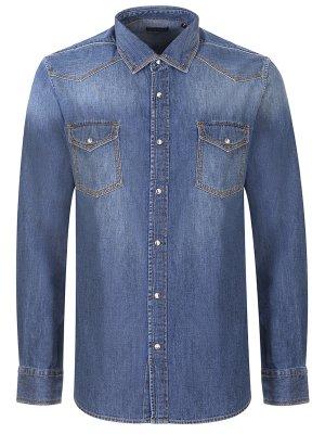 Рубашка slim fit джинсовая BALDESSARINI