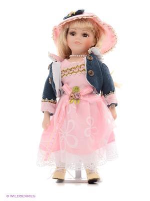 Кукла фарфор Валери 12 дюймов Angel Collection. Цвет: розовый, серый
