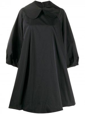 Короткое платье свободного кроя Simone Rocha. Цвет: черный