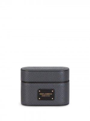 Logo-patch Airpods case Dolce & Gabbana. Цвет: серый