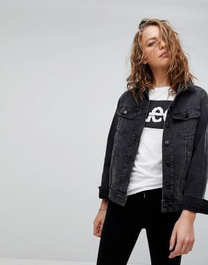 Джинсовая куртка в стиле 90-х Style Rider Lee. Цвет: черный