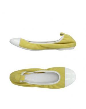 Балетки BALLERINA. Цвет: желтый