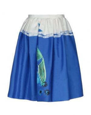 Юбка длиной 3/4 GIULIA ROSITANI. Цвет: синий