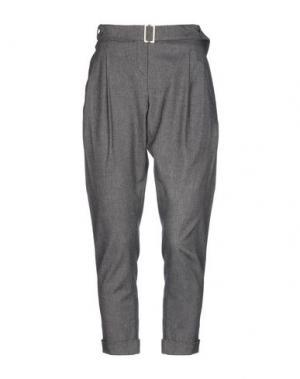 Повседневные брюки BLUE DEEP. Цвет: свинцово-серый