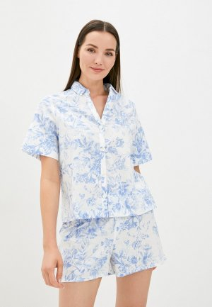 Рубашка домашняя Gap. Цвет: белый