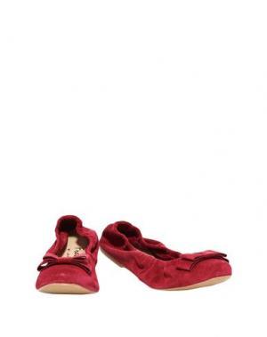 Балетки FRENCH SOLE. Цвет: красно-коричневый