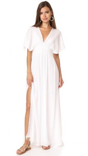 Макси-платье со сборками Ella Moss. Цвет: белый