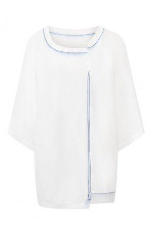 Хлопковая футболка Y`s. Цвет: белый