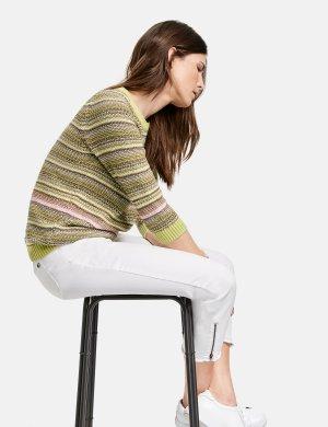 Укороченные джинсы из органического хлопка GERRY WEBER. Цвет: off-white