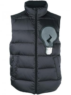 Дутый жилет ID-EA Fendi. Цвет: серый