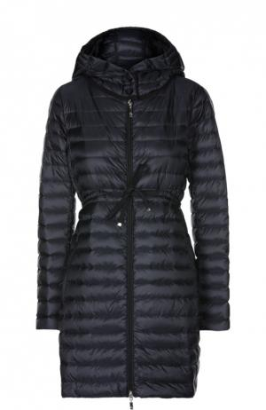 Пуховая куртка Moncler. Цвет: темно-синий