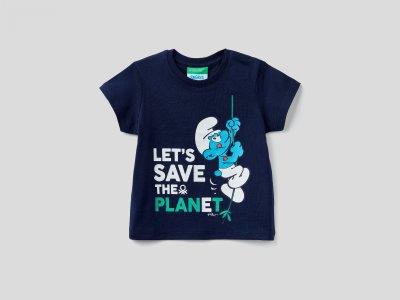 Футболки Benetton. Цвет: синий