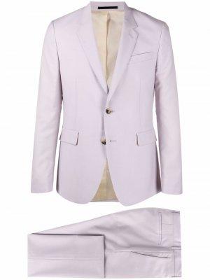 Костюм-двойка с однобортным пиджаком PAUL SMITH. Цвет: фиолетовый