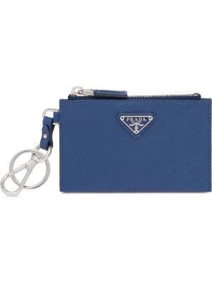 Футляр для ключей Prada. Цвет: синий