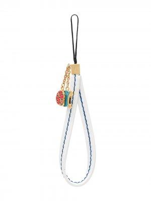 Брелок для ключей 1970-х годов Céline Pre-Owned. Цвет: белый