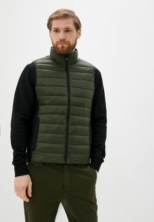 Жилет утепленный Calvin Klein. Цвет: хаки