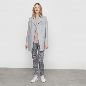 Пальто с металлизированными волокнами и бантом сза LA REDOUTE COLLECTIONS. Цвет: серый