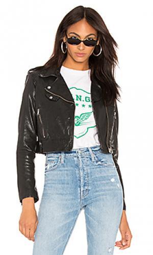 Кожаная куртка ciara LAMARQUE. Цвет: черный