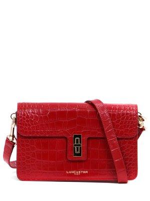 Кожаная сумка-клатч LANCASTER. Цвет: красный
