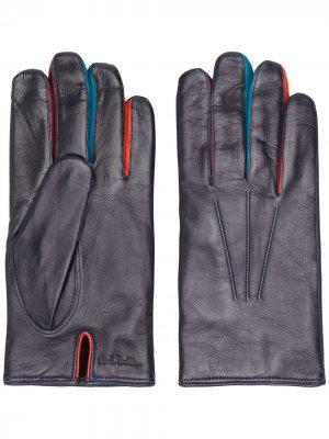 Перчатки с контрастной отделкой PAUL SMITH. Цвет: фиолетовый