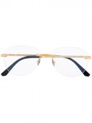 Очки-авиаторы Cartier Eyewear. Цвет: белый