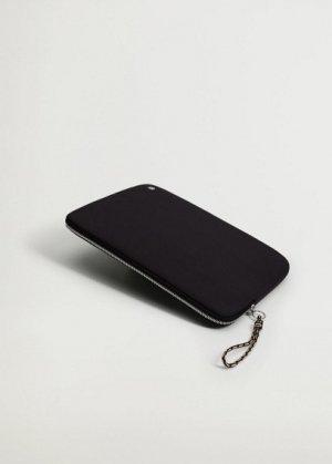 Стеганый чехол для ноутбука с узлом - Cali Mango. Цвет: черный